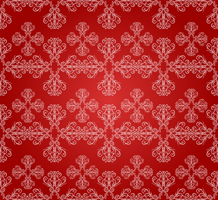 elegant seamless pattern with white snowflakes for your christmas and new year design Stock Vector - 16059561