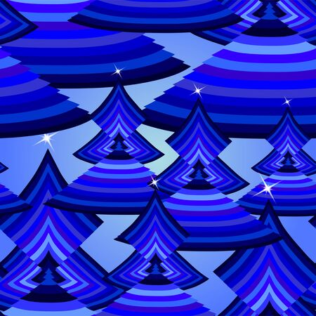 elegant seamless pattern with abstract blue trees for your christmas and new year design Stock Vector - 16525042
