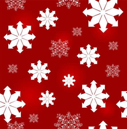 elegant seamless pattern with white snowflakes for your christmas and new year design Stock Vector - 16525163