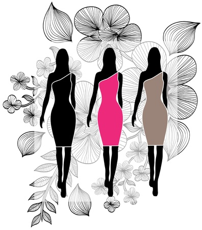 elegant fashion girls for your design Vector