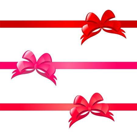 elegant seamless pattern with red and pink bows for your design