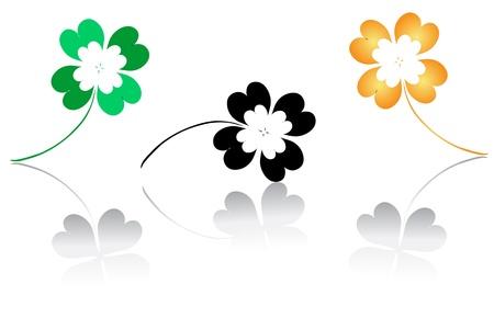 lucky clovers for st patricks day Stock Vector - 18101382