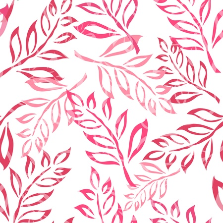 elegant seamless pattern with pink leaves for your design