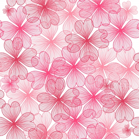 tileable background: elegant seamless pattern with pink flowers for your design