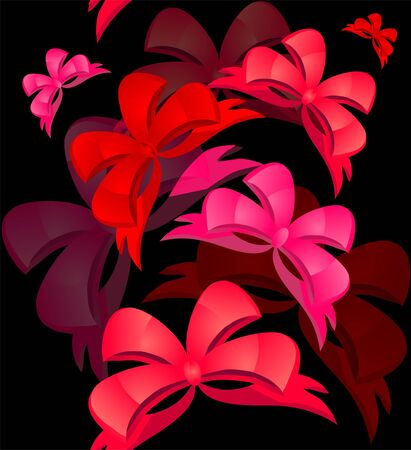 elegant seamless pattern with pink and red bows for your design