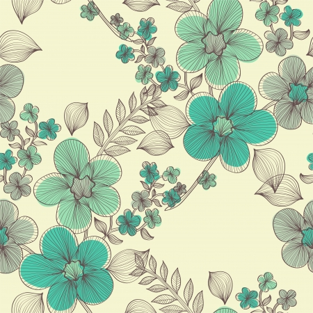 flower pattern: elegant seamless pattern with abstract flowers for your design