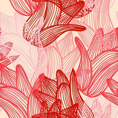 tulipe rouge: �l�gant seamless avec des fleurs de tulipes roses et rouges pour votre conception