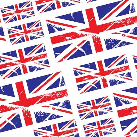great britain: seamless, avec grand drapeau bretagne