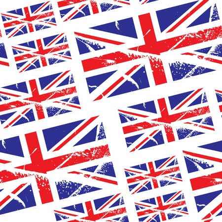 seamless pattern with great britain flag Illustration