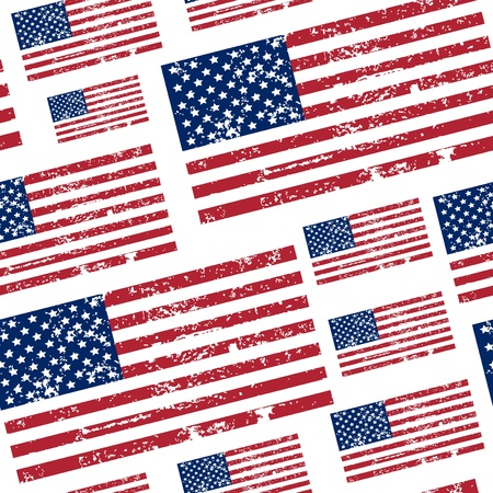 seamless pattern with USA flag Vector