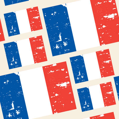 francaise: seamless pattern with French republic flag