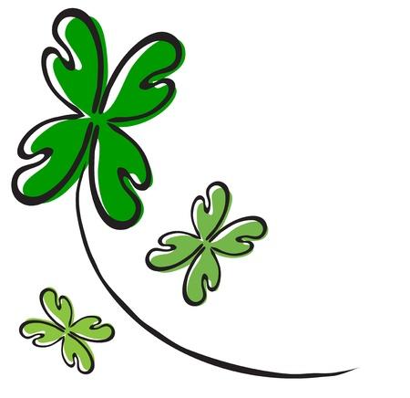 four leaf: cuatro de hoja de tr?bol