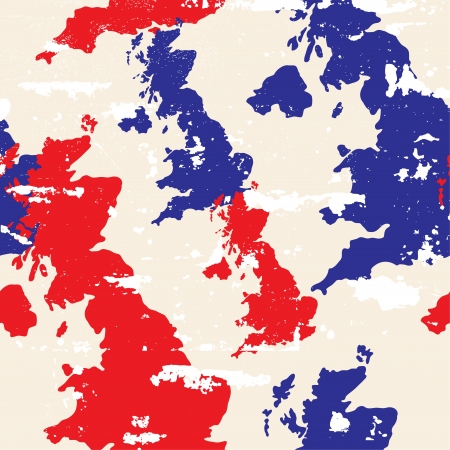 seamless pattern with United Kingdom map Vector