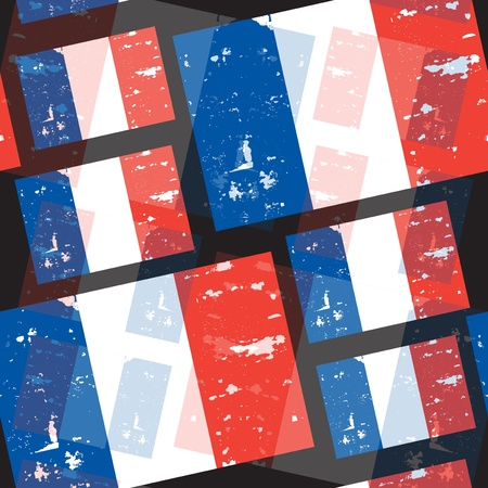 elegant seamless pattern with French Republic flag Vector