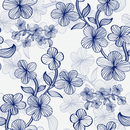 elegant seamless pattern with hand drawn flowers for your design