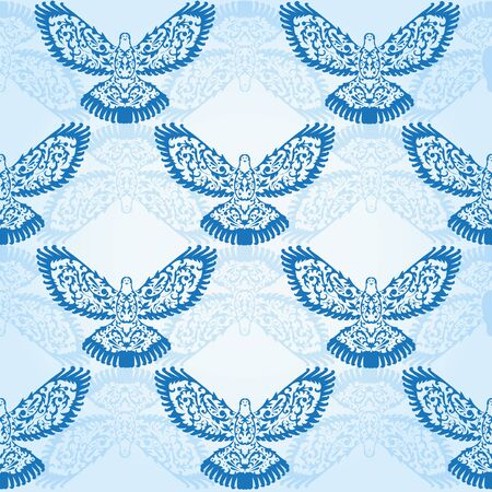 elegant seamless pattern with decorative doves for your design Stock Vector - 20787643