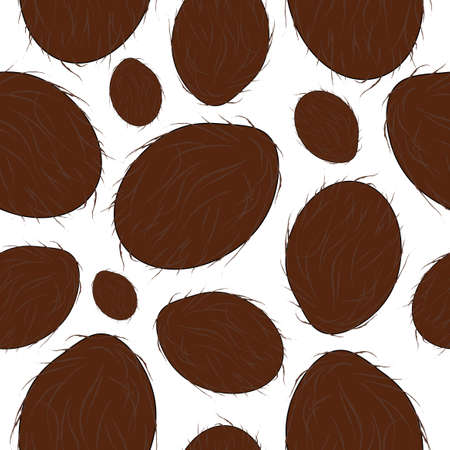 elegant seamless pattern with coconut fruits for your design Vector