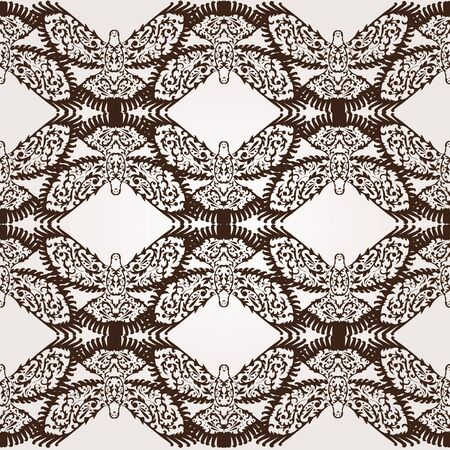 elegant seamless pattern with decorative doves for your design Stock Vector - 21010709