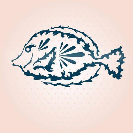 seafish: hand drawn decorative fish, design element