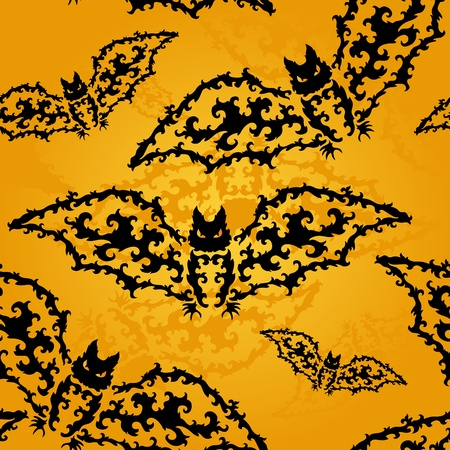 elegant seamless pattern with decorative bats for your design Stock Vector - 21494168