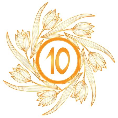 tenth birthday: 10th anniversary banner