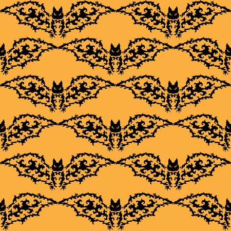 nocturne: elegant seamless pattern with decorative bats for your design