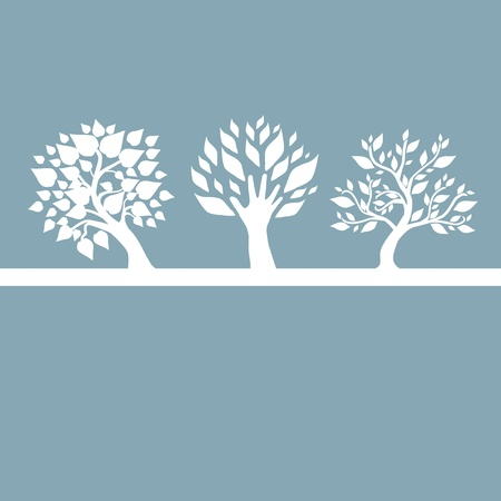 hand drawn decorative trees for your design Vector