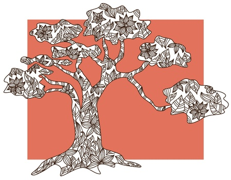 hand drawn decorative tree Stock Vector - 21905638