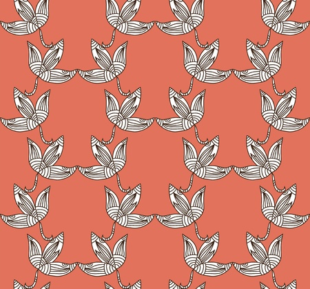 elegant seamless pattern with decorative leaves  Vector
