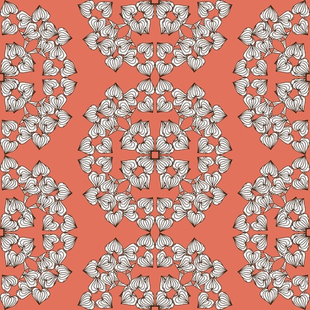 elegant seamless pattern with abstract leaves Stock Vector - 21906508