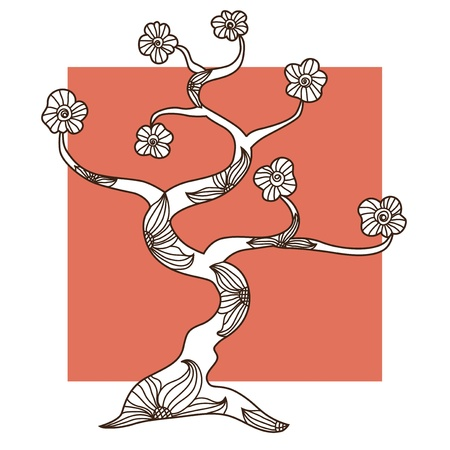 hand drawn decorative tree for your design Stock Vector - 22160058
