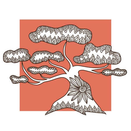 hand drawn decorative tree for your design Stock Vector - 22160067