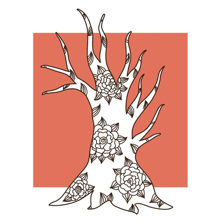 hand drawn decorative tree for your design Stock Vector - 22160072