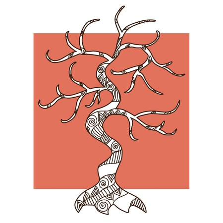 hand drawn decorative tree for your design Stock Vector - 22160077