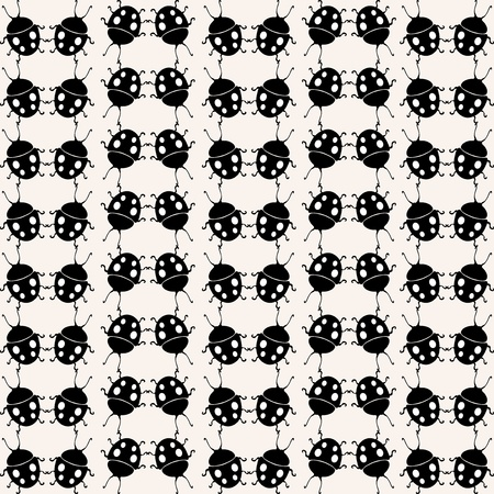 elegant seamless pattern with ladybugs Vector