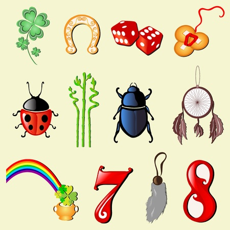 good fortune: set of 12 principal symbols of luck