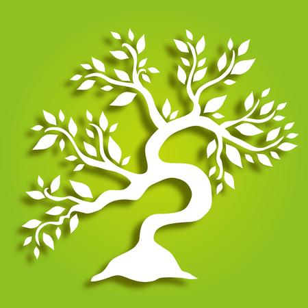 hand getekend decoratieve boom, symbool van de natuur