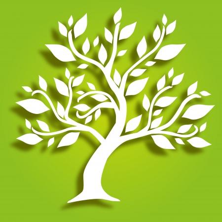 hand drawn decorative tree, symbol of nature Illustration