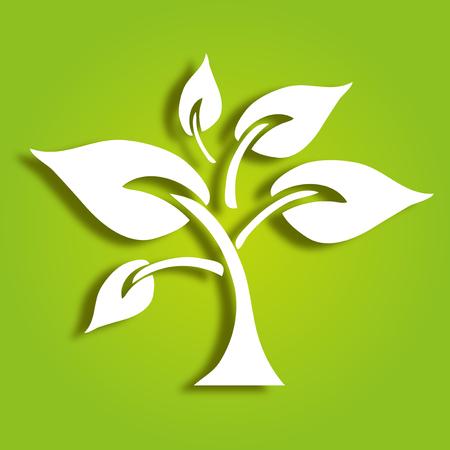 Hand getekend decoratieve boom, symbool van de natuur Stockfoto - 23650480
