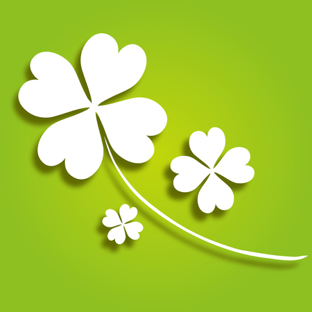 four leaf decorative clover, symbol of luck Stock Vector - 23650478