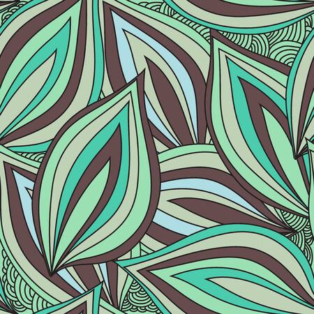 elegant seamless pattern with decorative leaves, design element Vector