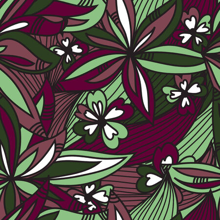 elegant seamless pattern with decorative abstract flowers, design element Vector