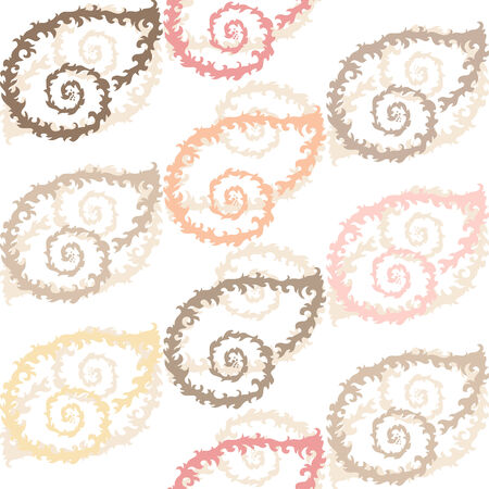 elegant seamless pattern with decorative seashells, design element Vector