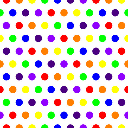 elegant seamless pattern with multicolor dots in rainbow colors, design element.