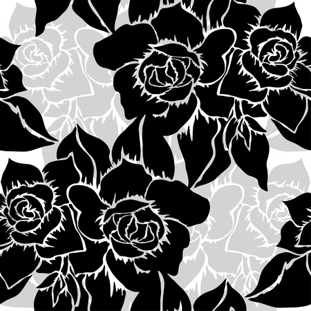 Elegant seamless pattern with hand drawn decorative gardenia\ flowers, design elements. Floral pattern for wedding invitations,\ greeting cards, scrapbooking, print, gift wrap,\ manufacturing.