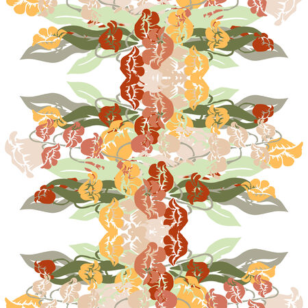 Elegant seamless pattern with hand drawn decorative lily flowers, design elements. Floral pattern for wedding invitations, greeting cards, scrapbooking, print, gift wrap, manufacturing. Vector