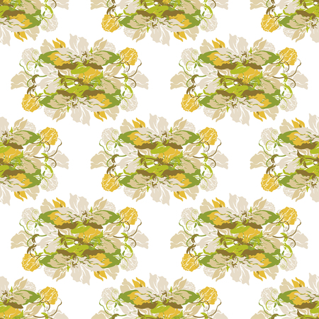 sweet pea: Elegant seamless pattern with hand drawn decorative sweet pea flowers, design elements. Floral pattern for wedding invitations, greeting cards, scrapbooking, print, gift wrap, manufacturing.