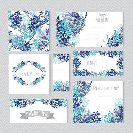 장식 분수 꽃, 디자인 요소 우아한 카드.