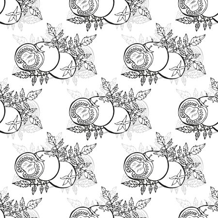Elegant seamless pattern with hand drawn tomatoes, design elements. Can be used for invitations, greeting cards, scrapbooking, print, gift wrap, manufacturing. Food background