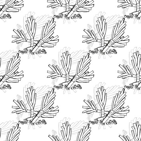 leek: Elegant seamless pattern with hand drawn leek, design elements. Can be used for invitations, greeting cards, scrapbooking, print, gift wrap, manufacturing. Food background